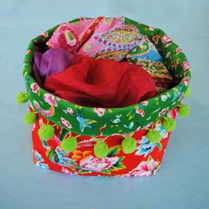 Sewing kit Large Fabric Basket - Shanghai