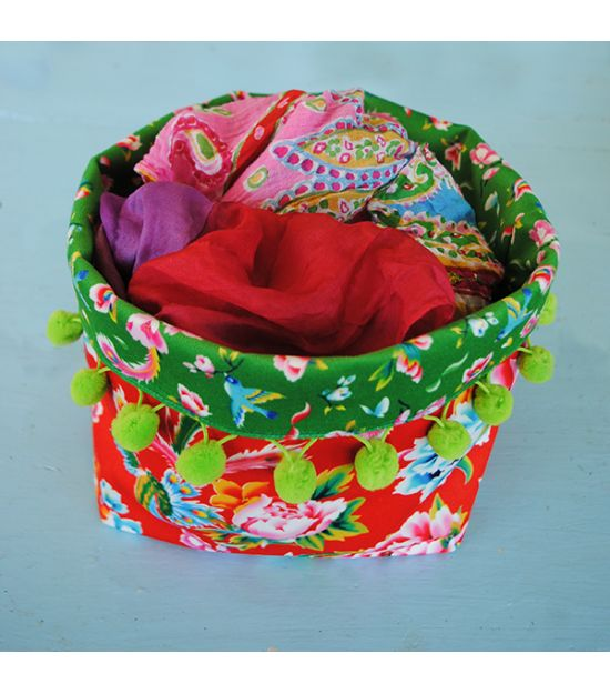Sewing kit Large Fabric Basket - Shanghai