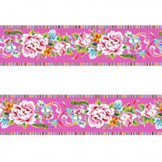 Mini bordure velours Shanghai rose