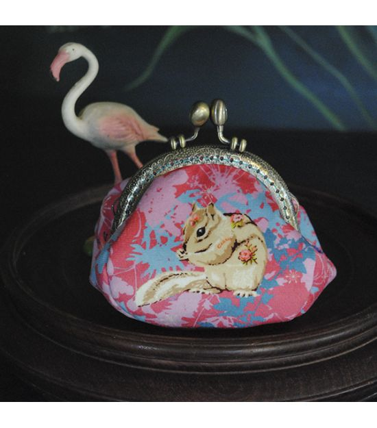 Sewing kit coin purse LAND ART pink