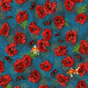 Jersey de coton Lisboa bleu