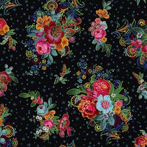 Jersey de coton Mini Istambul noir