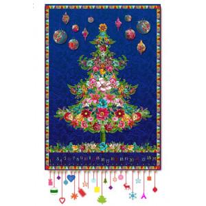Velvet pannel : blue Christmas tree