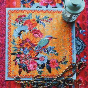 Velvet card Kingfisher