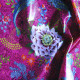 Coton enduit Mare enchantée rose