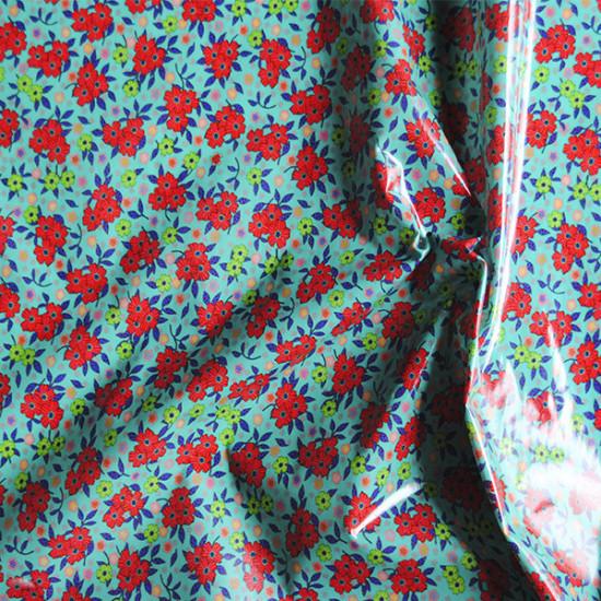 Coton enduit Delhi turquoise