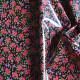 Coton enduit Delhi noir