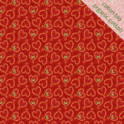 Organic cotton Straw Heart orange