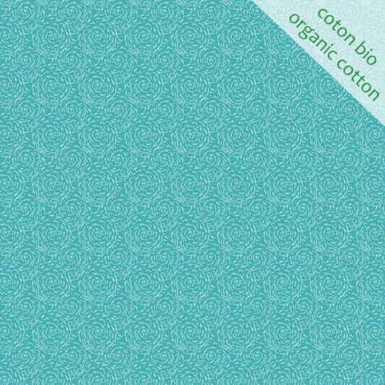 Coton Bio Paille bleu