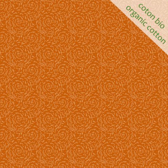 Organic cotton paille orange