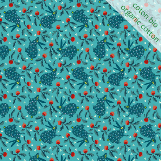 Coton Bio Lapin bleu