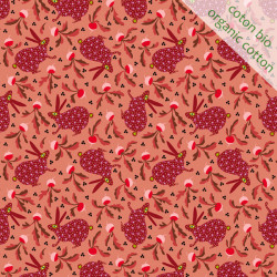 Organic cotton rabbit coral