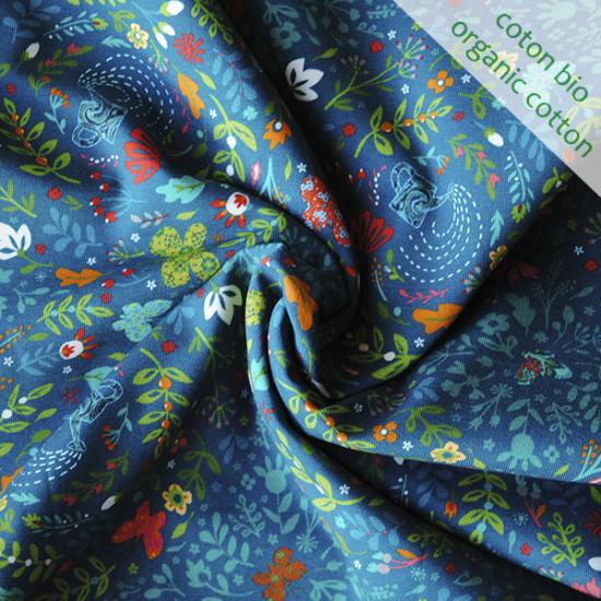 Jersey de coton bio Jardin de Souris ardoise