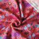 Jersey de coton bio Basse-cour rose