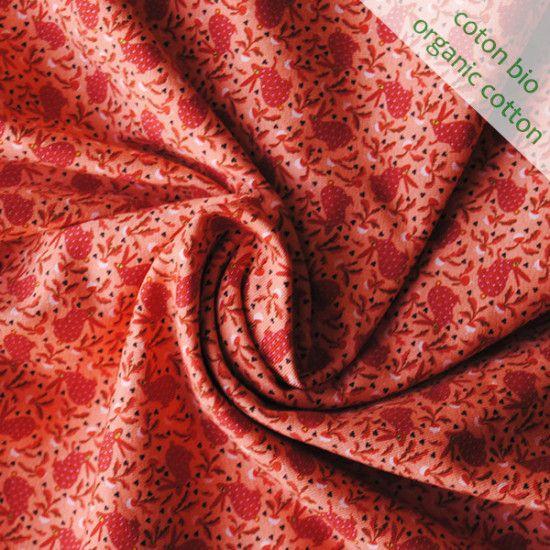 Jersey de coton bio Lapins corail