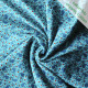 Organic Cotton jersey Rabbit blue
