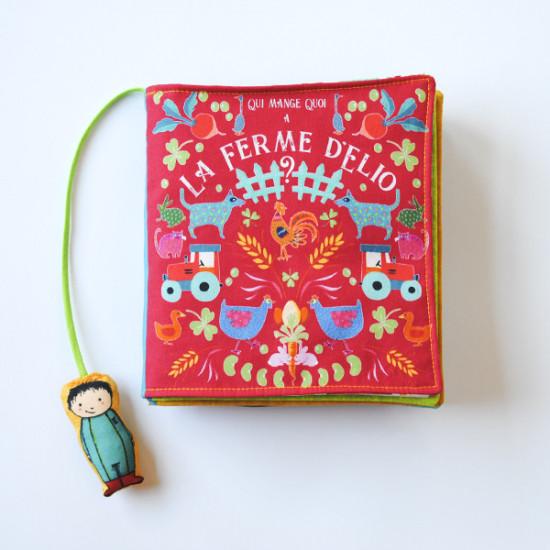 """Kit Livre textile """"la ferme d'Elio"""""""