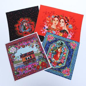 Pack cartes textiles