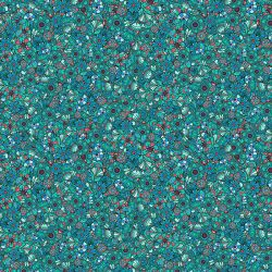 Organic cotton Sequins turquoise