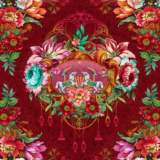 Velours Caroussel Rouge