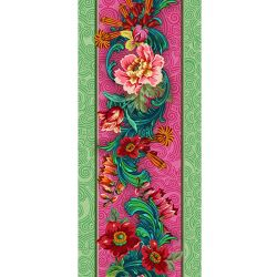 Bordure velours Voltige Rose