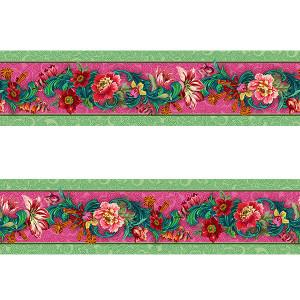 Small Velvet border Volitge Pink