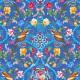Velours Souple Bijoux de la Reine Bleu