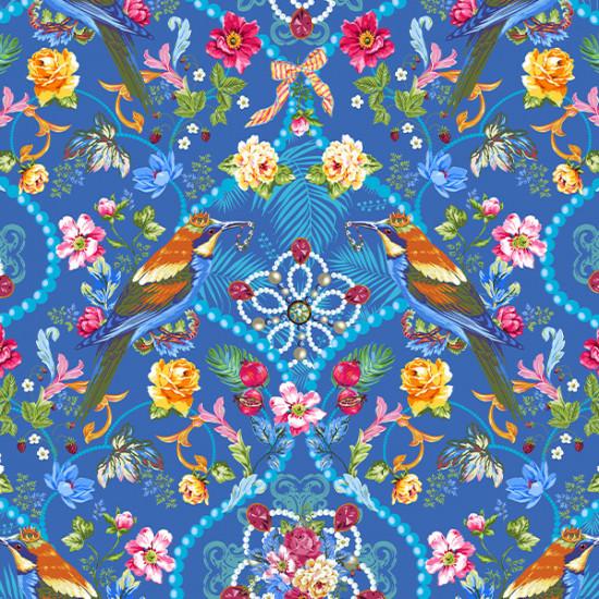 Soft Velvet queen's Jewels Blue