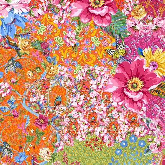 Velvet panel Queen's Garden