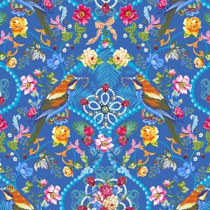 Velours Bijoux de la Reine Bleu
