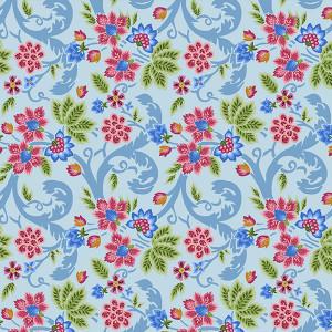 Coton Indienne bleu