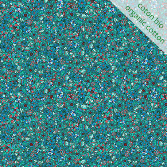Organic cotton Sequins turquoise