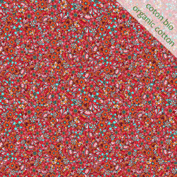 Organic cotton Sequins red