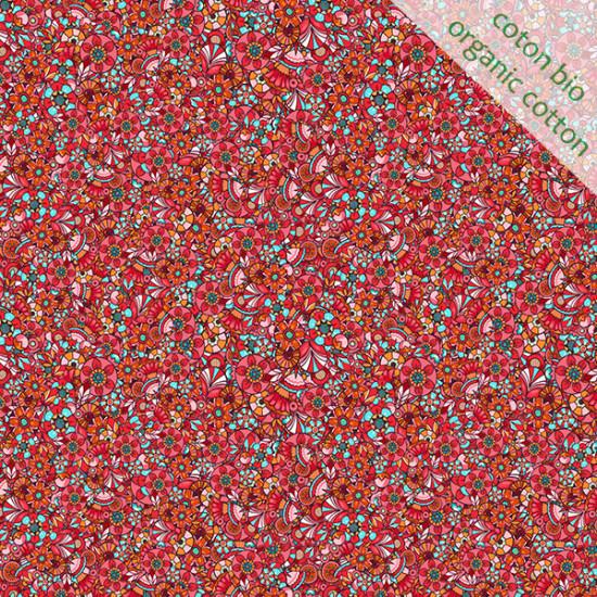 Coton Bio Paillettes rouge