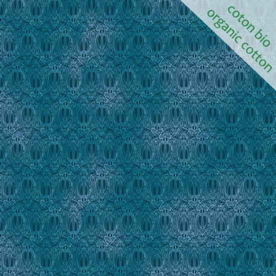 Organic cotton Olympia blue