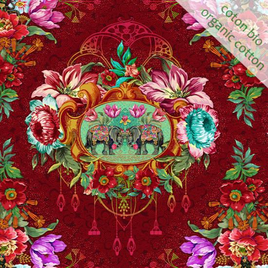Organic cotton Caroussel red