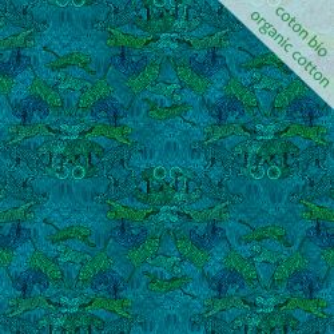Organic cotton Bengale blue