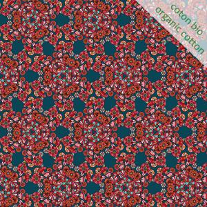 Coton Bio Fleurs de Paillettes