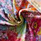 Cotton jersey Jardin de la Reine panel
