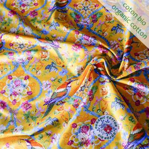 Jersey de coton bio Bijoux jaune