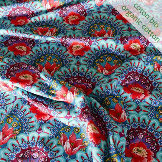 Jersey de coton bio Gala bleu