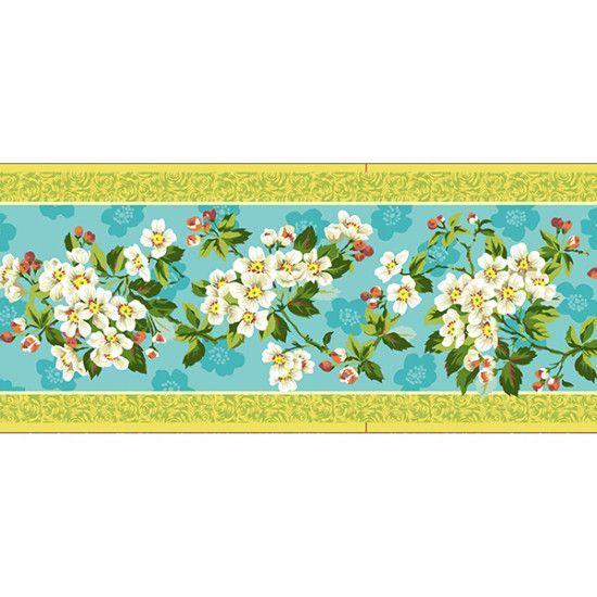 Velvet border Philip Jacob Spring Blossom - 8m Bobbin