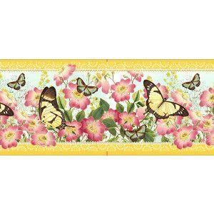 Velvet border Gwenaëlle Trolez Citron Butterflies - 8m Bobbin