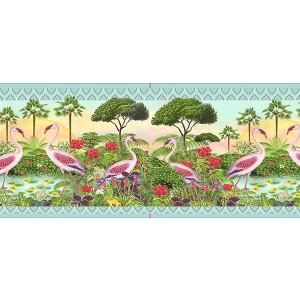 Bordure velours Gwenaëlle Trolez Flamants roses bobine de 8m