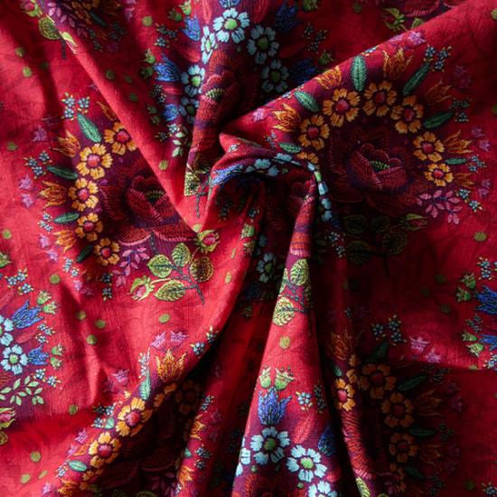 Cotton Voile: Dalarna Red