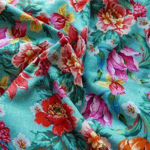 Voile de coton Voltige Turquoise