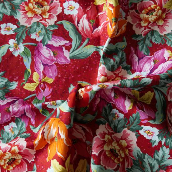 Cotton Twill: Voltige Red
