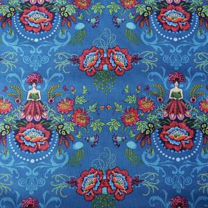 Cotton mini Flower Faries blue