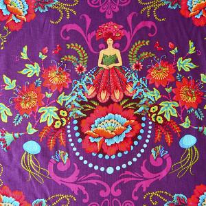 Coton Femmes Jardin violet