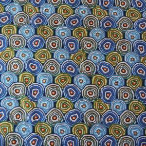 Cotton Geodes blue